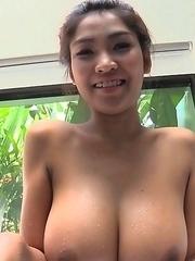 Busty Asian Tittiporn take a bath
