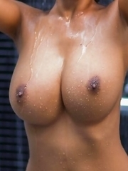Asian Busty bombshell Tittiporn take a shower