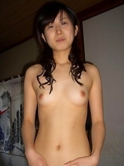 Chinese chick with perky tits gets banged
